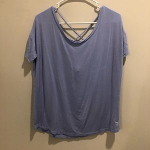 Victoria secret pink super soft t shirt blue